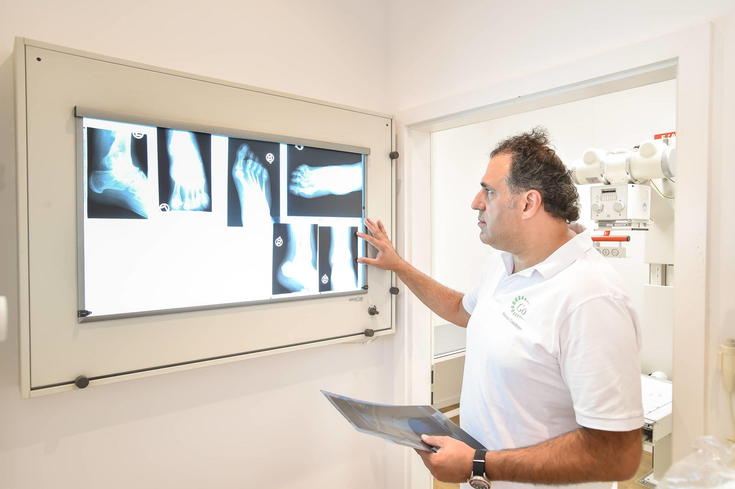 Röntgenbild eines Fußes - Gerber Orthopädie Stuttgart Mitte